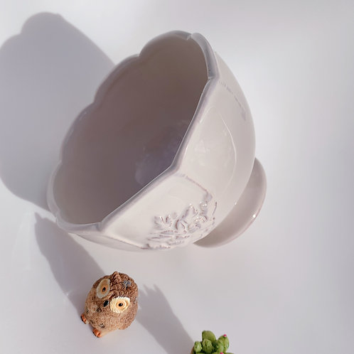 GP205   glazed pots    Nordic style     White torch