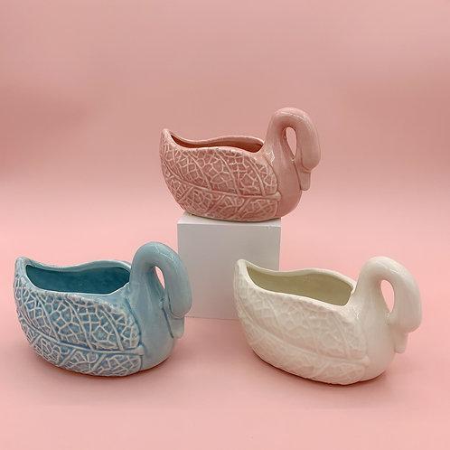 GP223 | glazed pots | Nordic style| swan