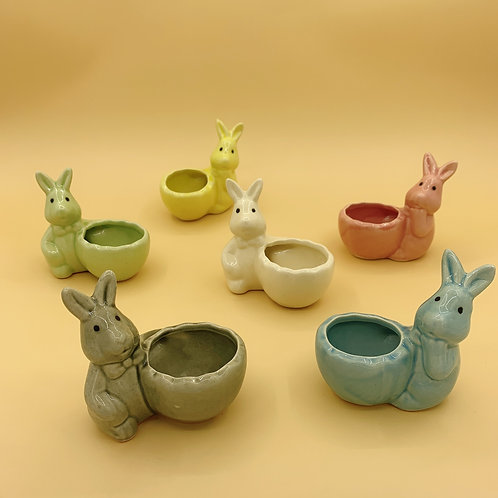 GP237 | glazed pots | Nordic style| rabbit | random colour