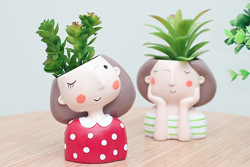 RS006  | Resin Pots | succulent pot | Girls | 4 Types