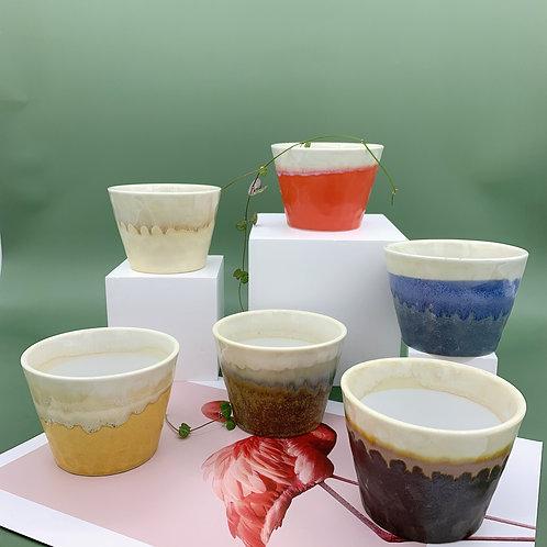 GP257| glazed pots | Nordic style | Japanese pot | a set of 6