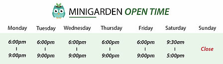 minigarden open time