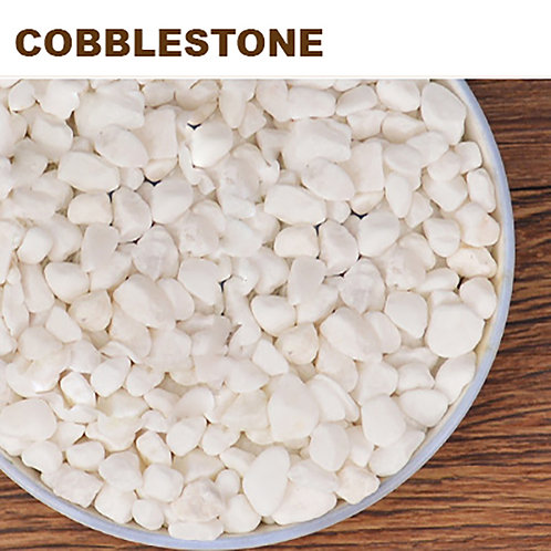 PS015 | Cobblestone 白色鹅卵石  3-5mm | Succulent cover stone | 1kg