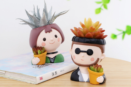 RS0015 | Resin Pots Set | Characters pots for Léon:The Professional | A set of 2
