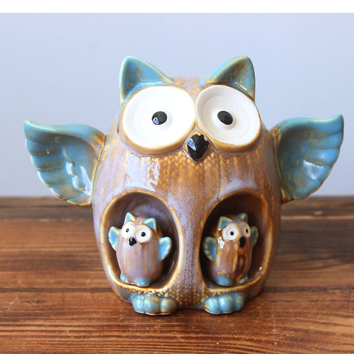 HG005 |  猫头鹰存钱罐  | Owl set for 3