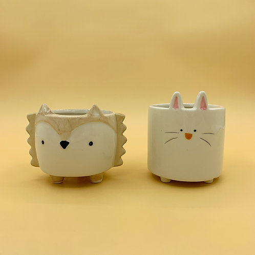 GP227 | glazed pots | Nordic style| cute animal