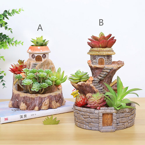 RS0013  | Resin Pots | Tree House |  2 Type