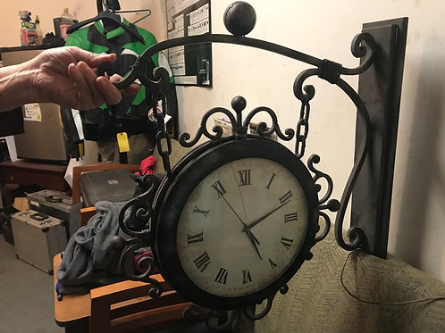 Double face antique vintage clock