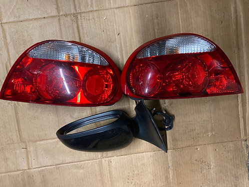 05-08 JAGUAR S-TYPE DRIVE used tail light and passenger side mirror