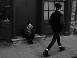 On a door step