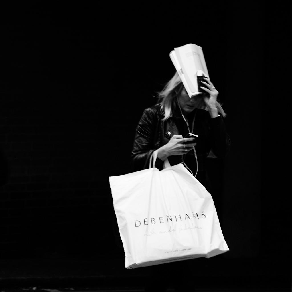Debenhams bag lady, Howland Street
