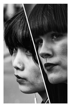 Hairstylist -Black and white split