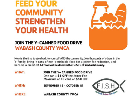 2020 JOIN THE Y - CANNED FOOD DRIVE