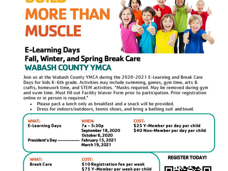 NEW PROGRAMS - E-Learning and Break Care