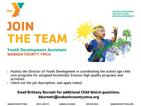 Now Hiring - Youth Development Assistant