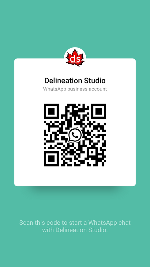 WhatsApp QR code from Delineation Studio