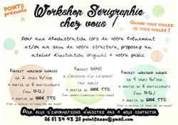 WORKSHOP SERIGRAPHIE
