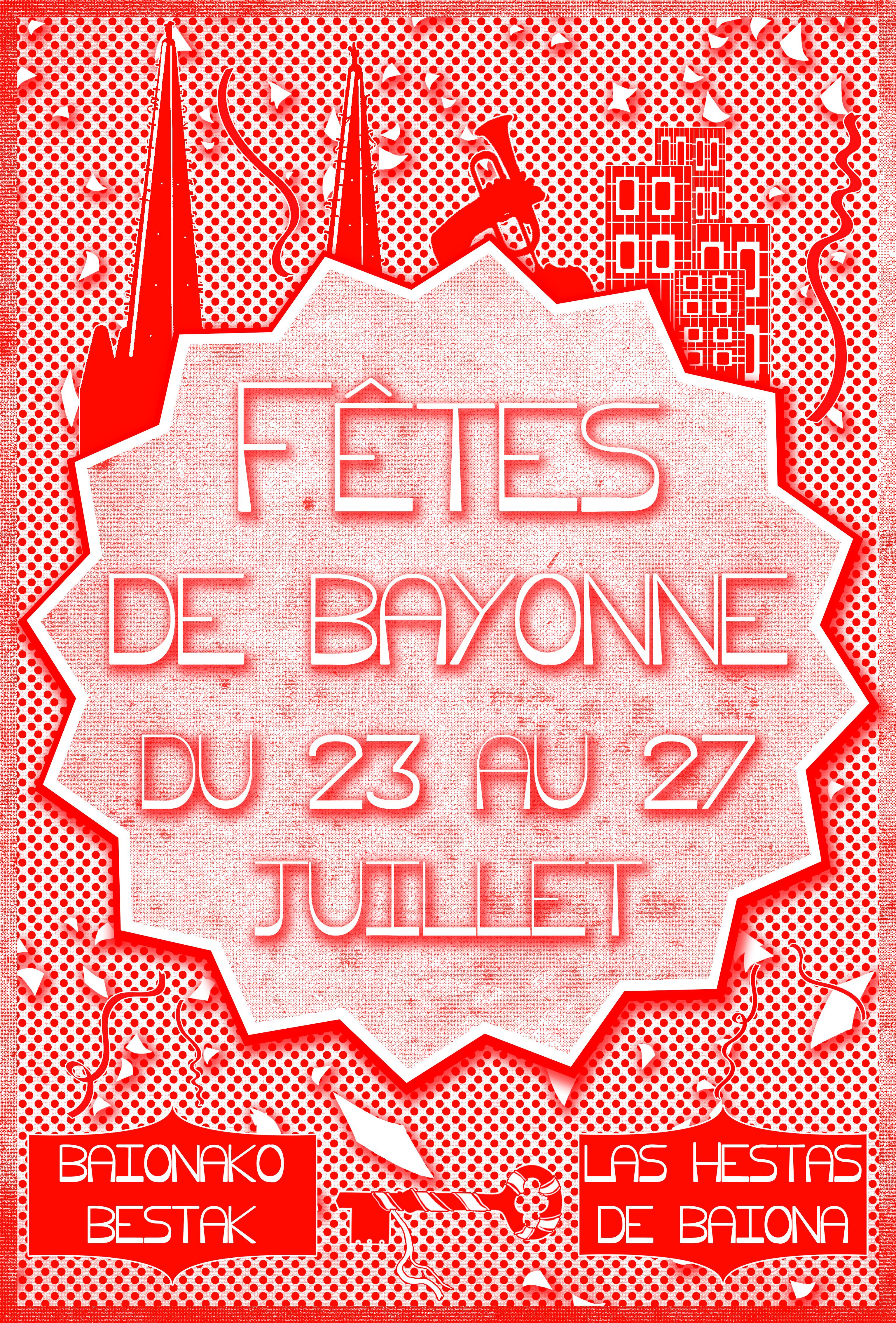 affiche fêtes de Bayonne'''''''