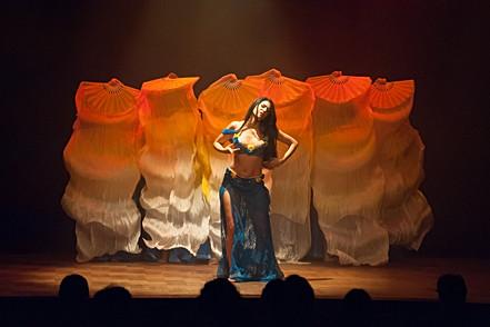 Un moment d'émotion durant un spectacle de danse orientale