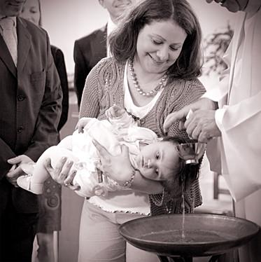 Le moment du baptême