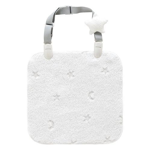 Handkerchief with Cute Star Clip Closure (Can be Converted as a Bib)