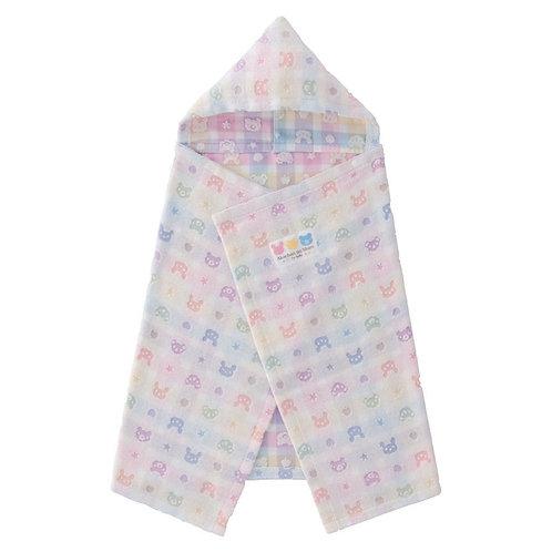 Bath Towel Robe - Akachan no Shiro Cute Bear (Colourful) Pattern