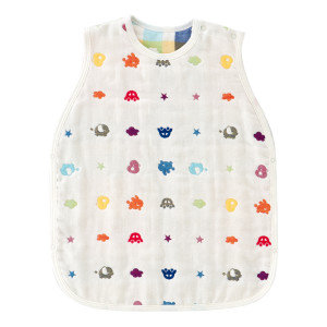 Sleeping Vest made with 6-Layers Gauze - In Cute Colours and Animal Pattern