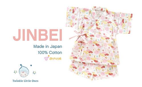 Jinbei - Pink Fan Pattern