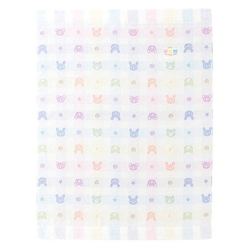 Towel Blanket - In Colourful Bear, Rabbit and Koala Pattern