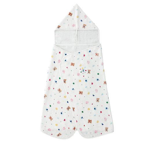 Bath Towel Robe - Crayon Pattern