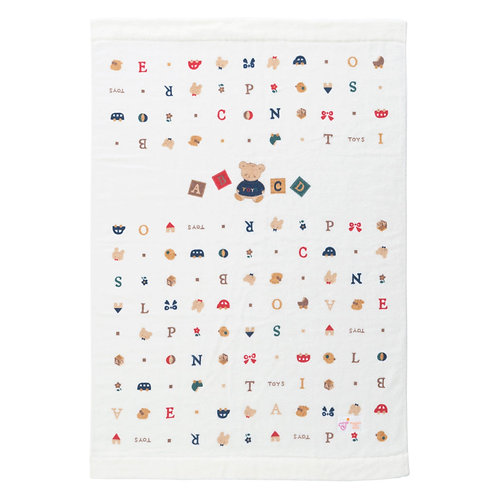 Towel Blanket - In Cute Alphabets, Animals, Toys and Assorted Pattern