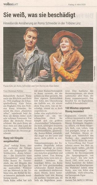 Romy Schneider_Volksblatt 6. März 2020