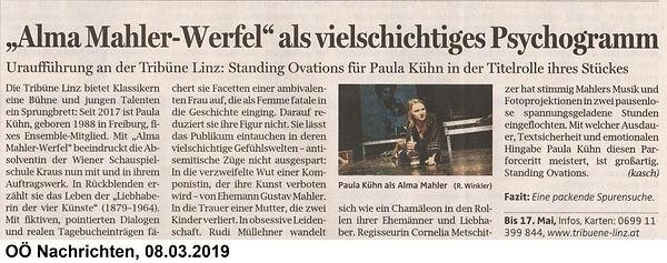 Alma Mahler-Werfel _ OÖN 8.3.2019