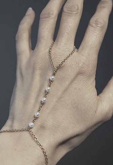 Handbracelet Gelbgold mit Perlen_bearbei