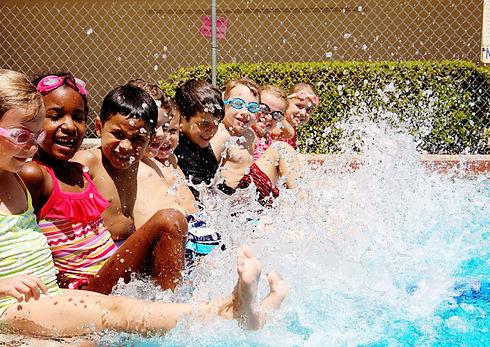 Summer Day Camp kids swimming pool fun