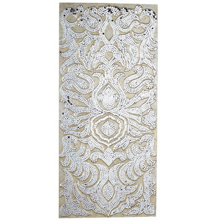 Champagne Mirrored Mosaic Damask Panel
