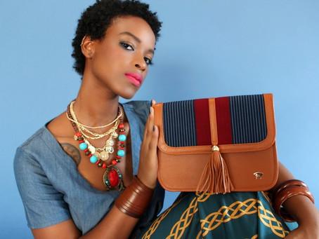 Autumn Cymone Models Olori Handbags for Glamour Magazine Brasil