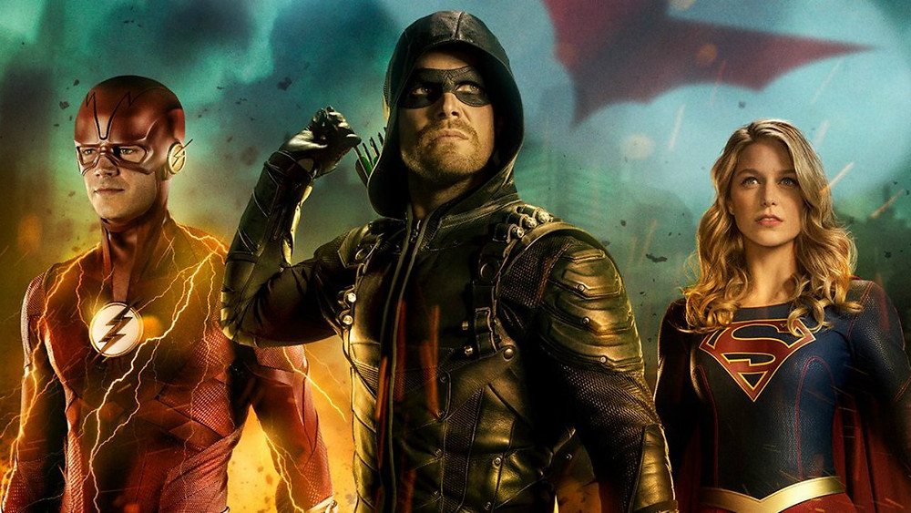 The main players in this year's Arrowverse Crossover on the CW Network