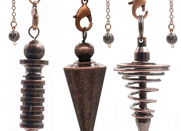 Metal Pendulums for Dowsing Divination Reiki Healing Spiritual Wicca  Amulet