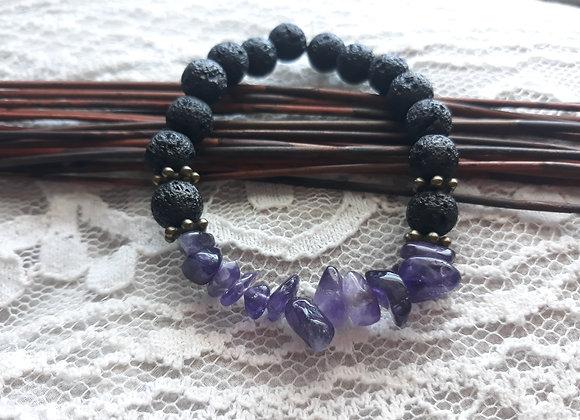 Amethyst Aromatherapy Bracelet