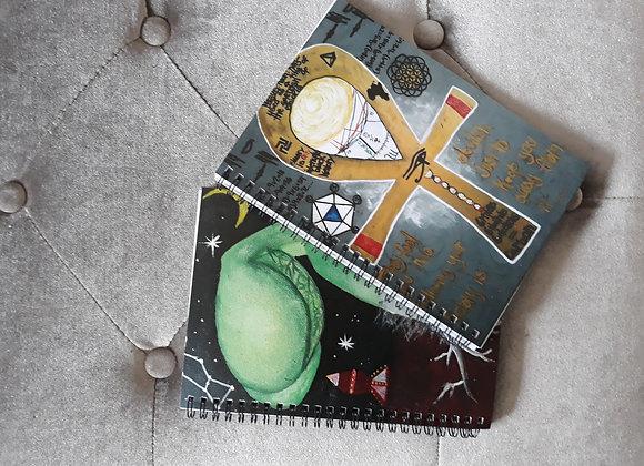 African spirituality notebooks. custom made by ebonycreates
