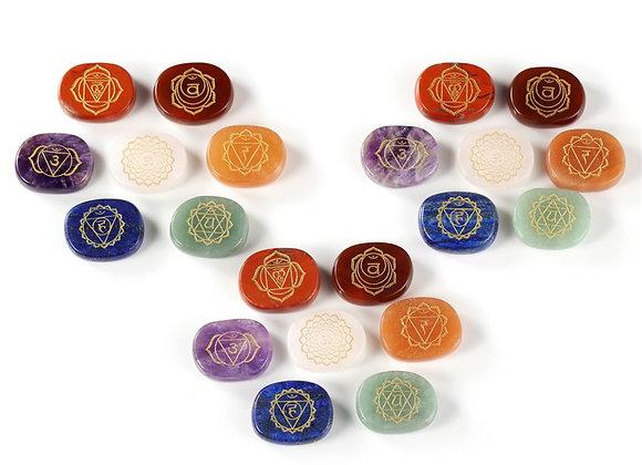 Natural Seven Chakra Stone Rune Therapy