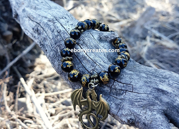 Dragon Bead And Pendant Bracelet