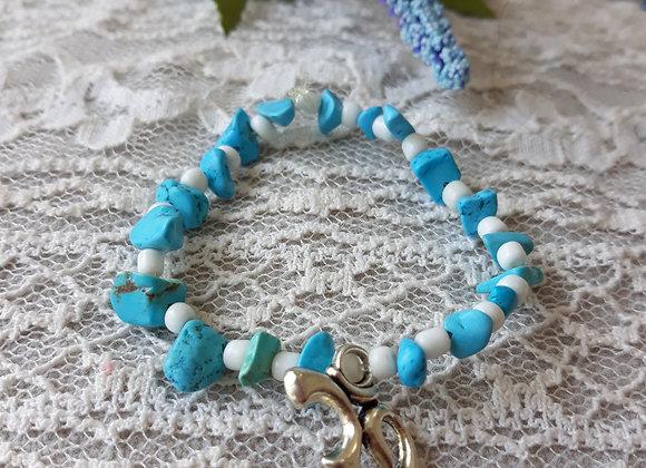 Turquoise Tumbled stone Bracelet