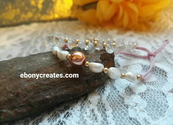 14 karat Gold Filled Bracelet with Freshwater Pearls
