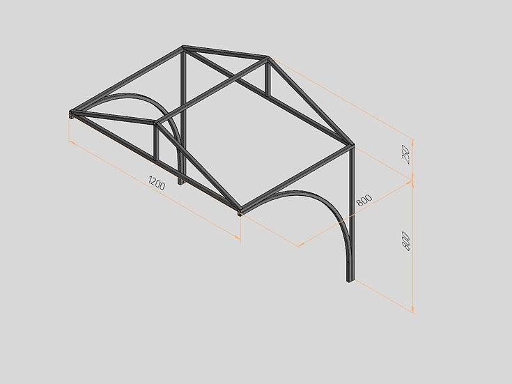 Козырёк треугольный 1200х800х250
