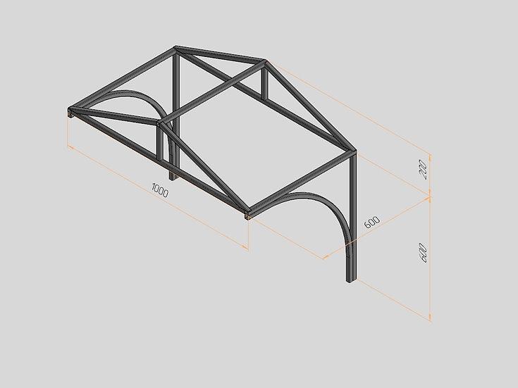 Козырёк треугольный 1000х600х200