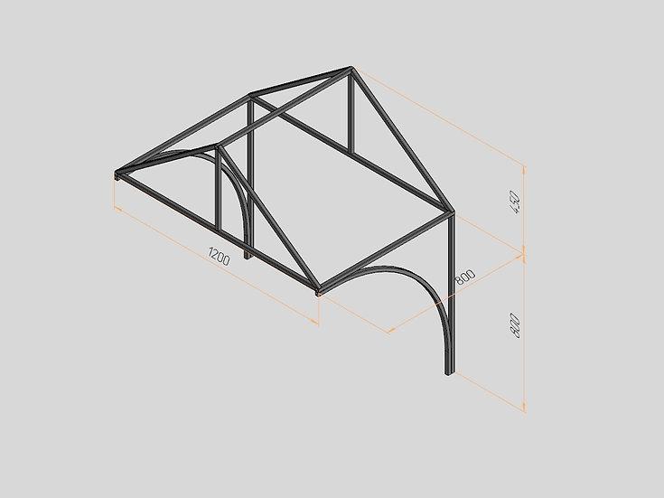Козырёк треугольный 1200х800х450