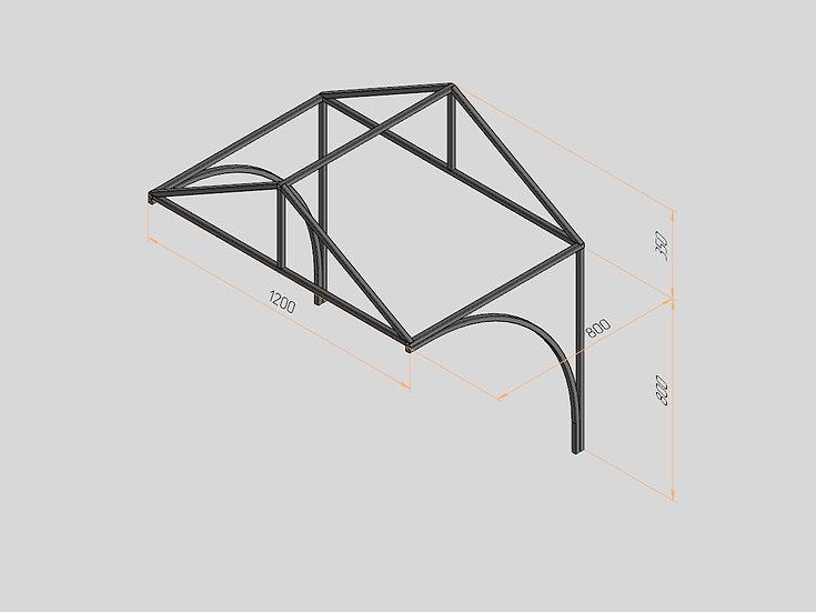 Козырёк треугольный 1200х800х350