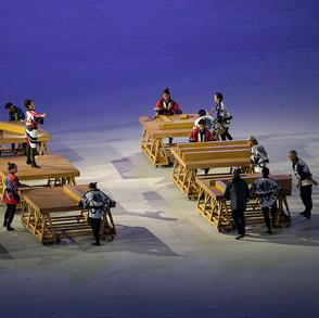 عروض مبهرة وفقرات منوعة من حفل افتتاح الألعاب الأولمبية